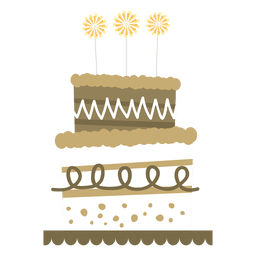 Tarta de cumpleaños plana