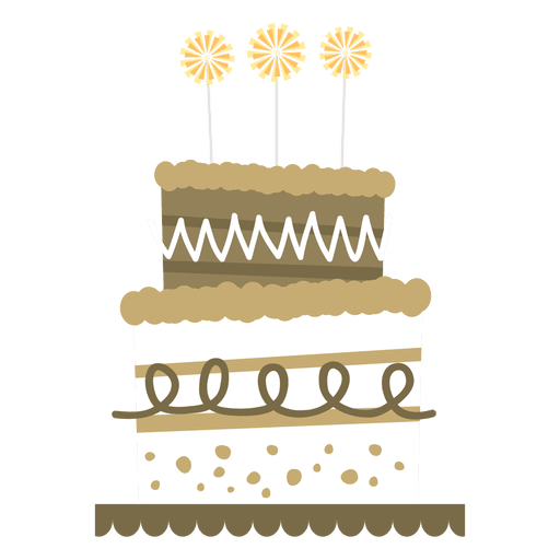 Flat birthday cake Transparent PNG