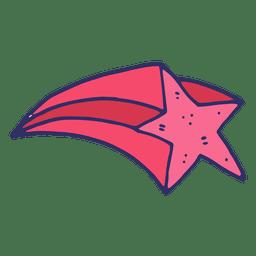 Estrella voladora de dibujos animados
