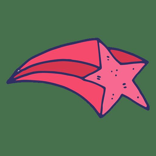 Estrella voladora de dibujos animados Transparent PNG