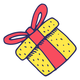 Iconos de dibujos animados de regalo