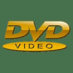 Logo de dvd dorado