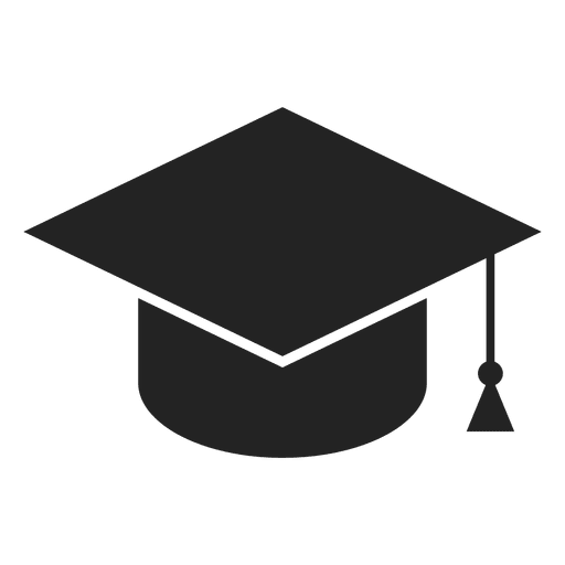 Graduation cap icon Transparent PNG