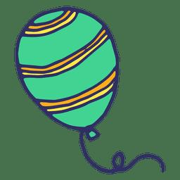 Desenhos animados de balão verde
