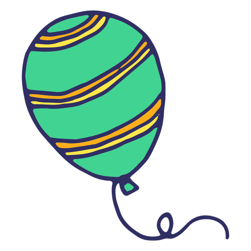 Dibujos animados de globo verde Transparent PNG