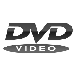 Logotipo de dvd cinza