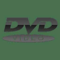 Logotipo de dvd gris