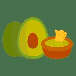 Desenhos animados de guacamole