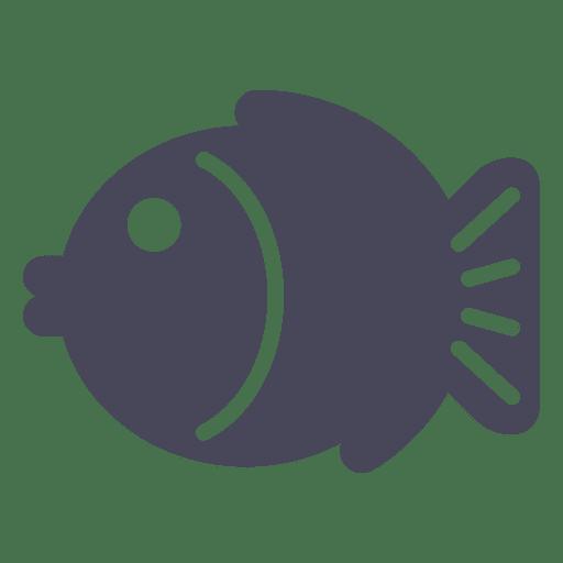 Icono de pescado de Japón negro Transparent PNG