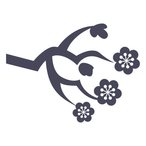 Japan-Blumenverzierung Transparent PNG