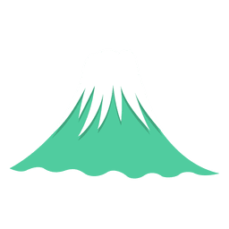 Ícone japonês de fuji mountian