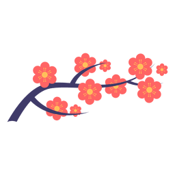 Japanese flower ornament
