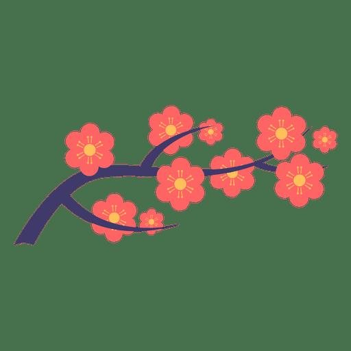 Japanische Blumenverzierung Transparent PNG