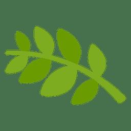 Icono de dibujos animados de laurel