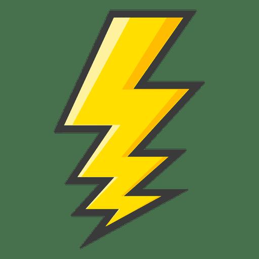 Lightning bolt large yellow