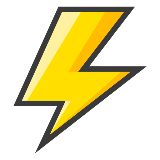 Lightning bolt small - Transparent PNG & SVG vector