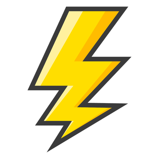 Lightning bolt yellow symbol - Transparent PNG & SVG vector