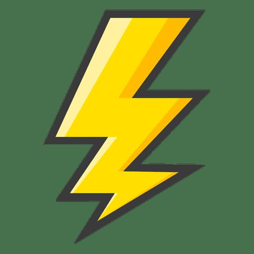 Símbolo de relâmpago amarelo Transparent PNG