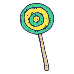 Lolly pop de dibujos animados