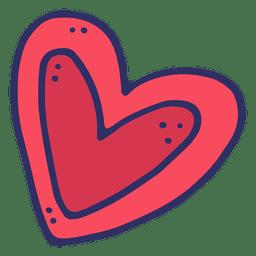 Desenhos animados do coração de amor
