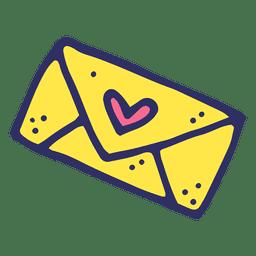 Desenho de carta de amor