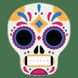 Máscara cráneo día de los muertos