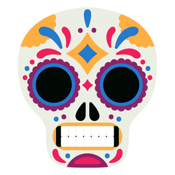 Mask skull day dos mortos