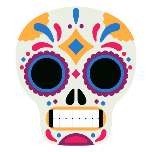 Mask skull day of the dead Transparent PNG