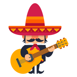 Mexican mariachi playing guitar