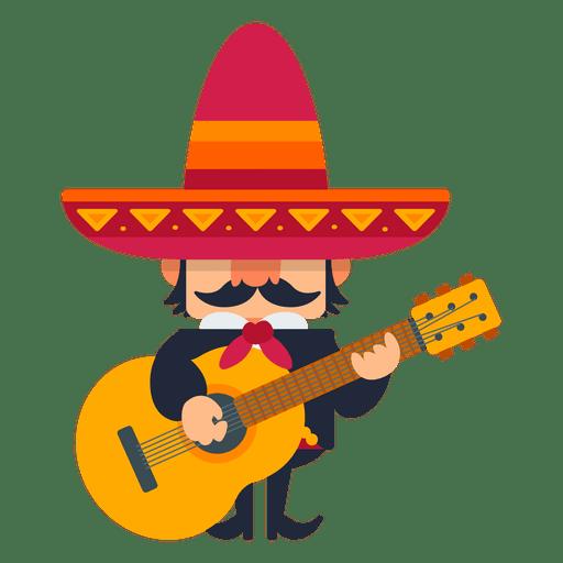 Mexican mariachi playing guitar