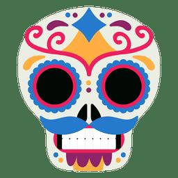 Dia morto do crânio do México