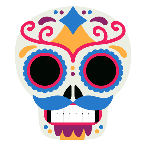 Mexico skull dead day Transparent PNG
