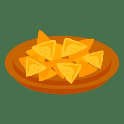 Comida de dibujos animados de nachos
