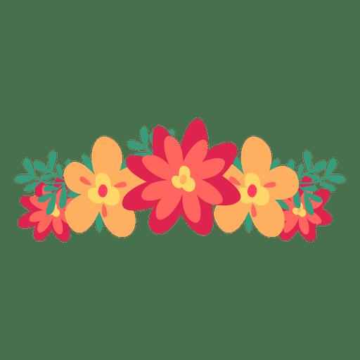 Coroa de flor vermelha laranja
