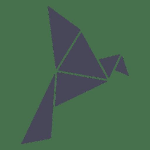 Origami Bird Silhouette
