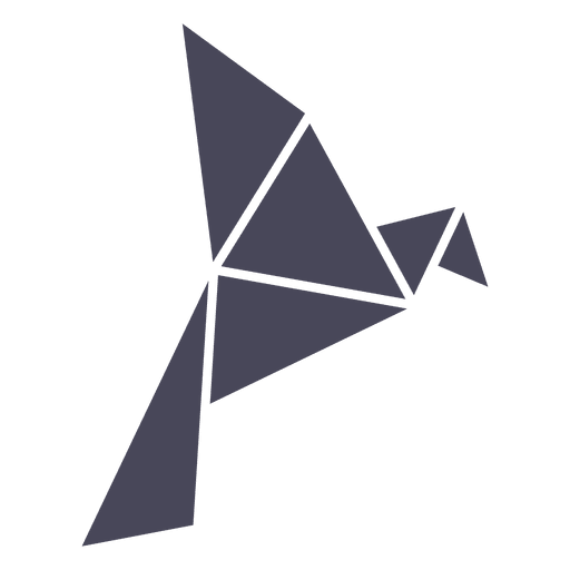 Silueta de pájaro de origami