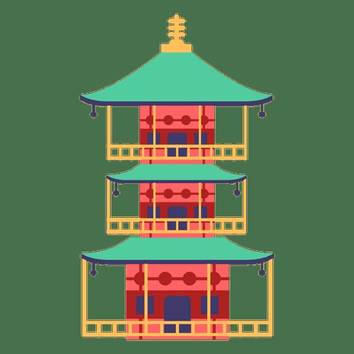 Pagoda casa japonesa Transparent PNG