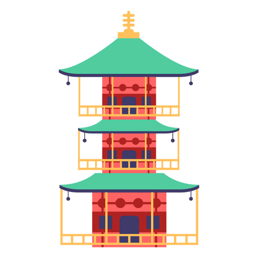 Pagoda japanese house Transparent PNG