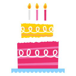 Bolo de aniversário rosa