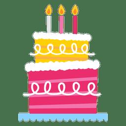Pastel de cumpleaños rosa