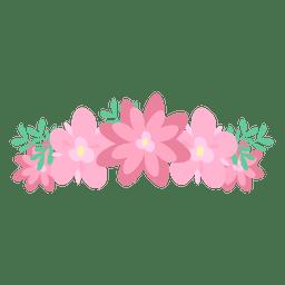 Coroa de flor rosa