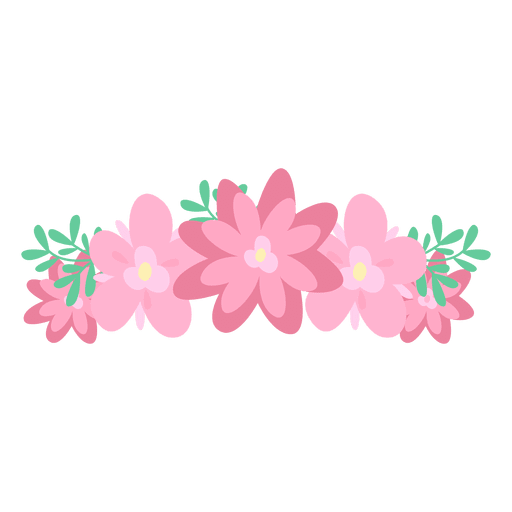 Pink flower crown transparent png svg vector pink flower crown transparent png mightylinksfo