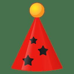 Icono de sombrero rojo de cumpleaños