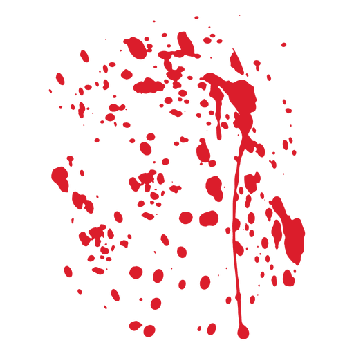 Red blood splatter Transparent PNG