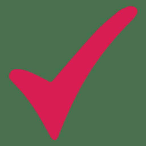 Marca de verificação vermelha Transparent PNG