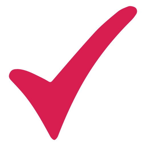 Marca de verificación roja Transparent PNG