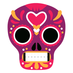 Red mexico skull