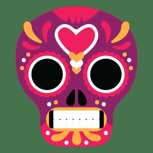 Calavera mexicana roja