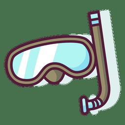 Conjunto de iconos de snorkel