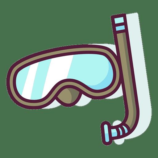 Snorkel icon set Transparent PNG